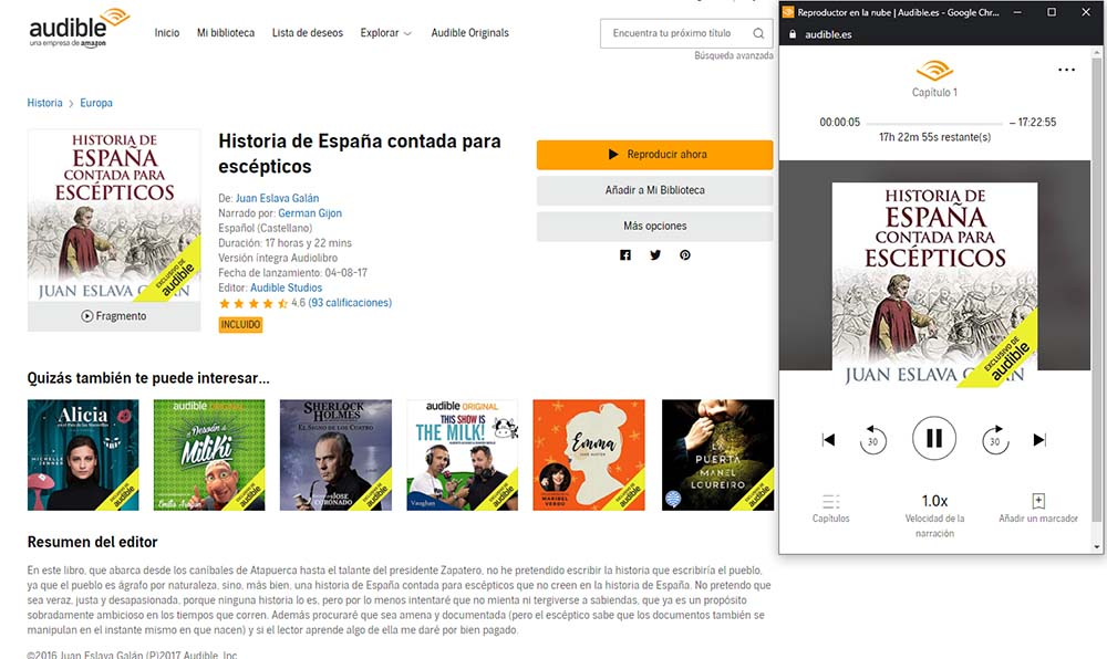reproductor audible