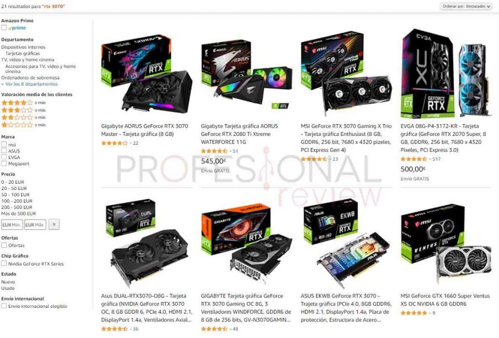 precio NVIDIA 3000