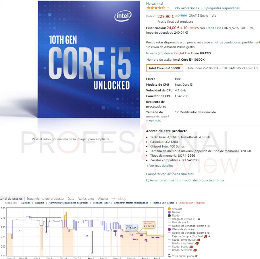 precio i5-10600K
