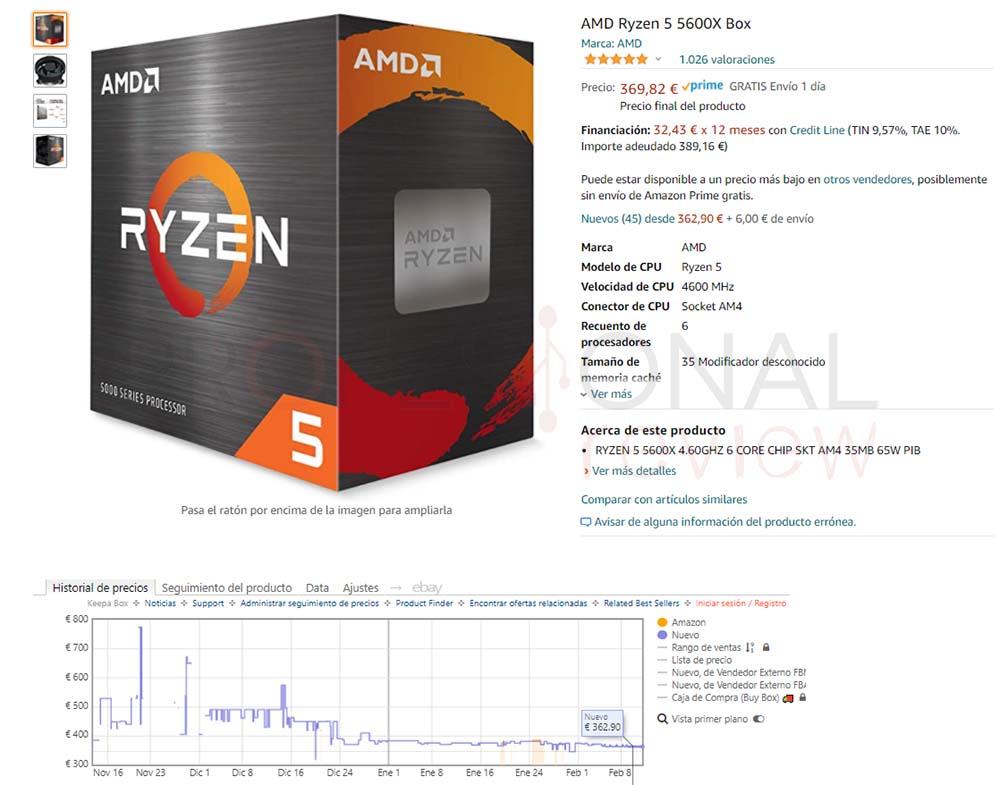 precio Ryzen 5 5600X