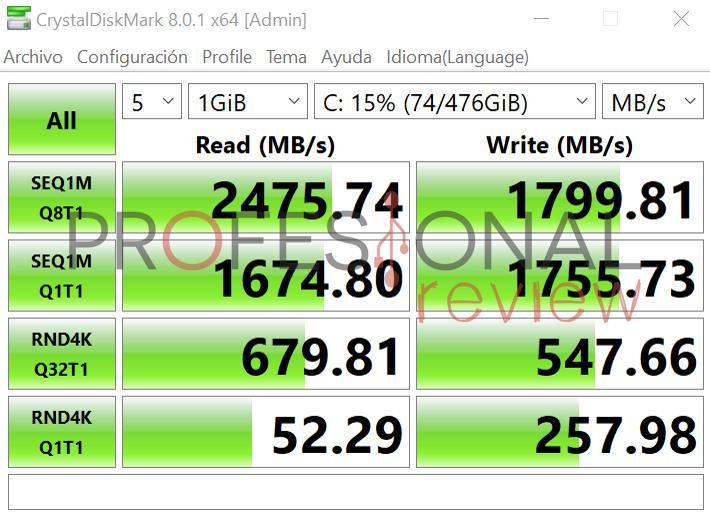 CrystalDiskMark Lenovo Thinkpad X1 NANO