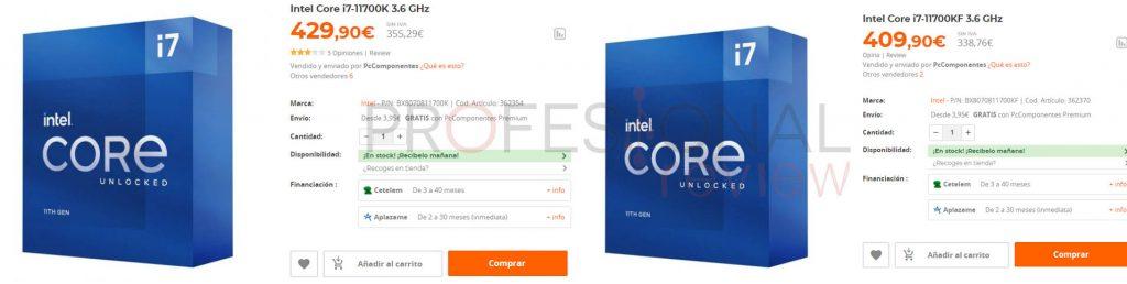 Intel Core i5-11600K precio