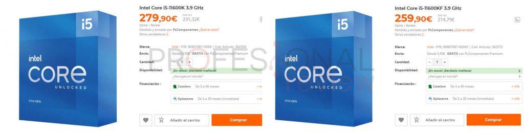 Intel Core i7-11700K precio