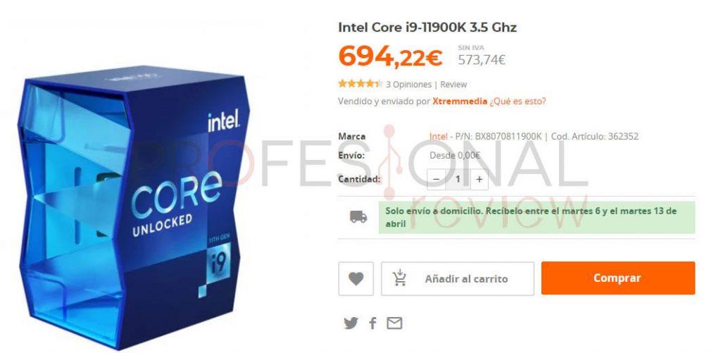 Intel Core i9-11900K precio