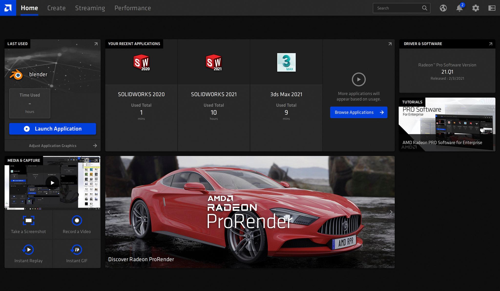 Radeon PRO Software