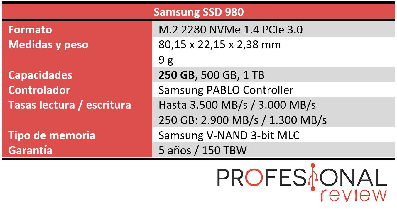 Samsung SSD 980 Características