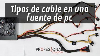 Tipos de cable fuente de alimentación para PC