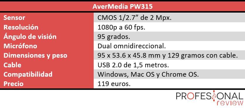 características técnicas avermedia pw315