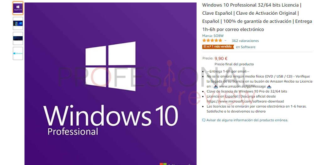 licencias windows 10 OEM