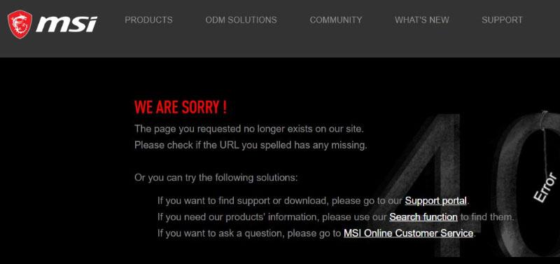 MSI error RTX 3090