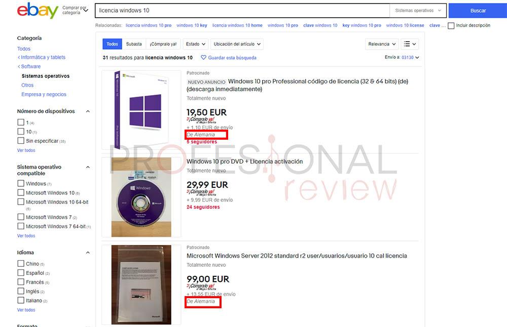 licencias ilegales windows 10