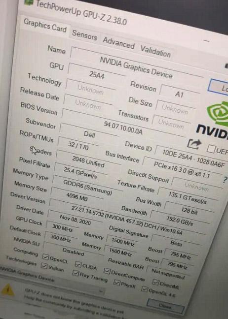 nvidia rtx 3050 mobile