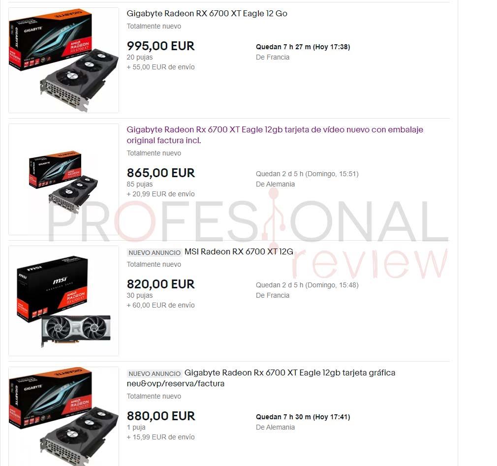 rx 6700 xt reventa ebay