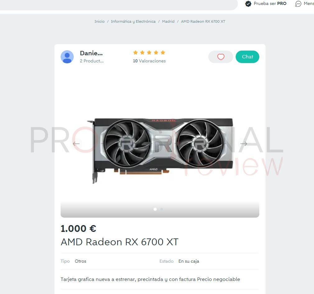rx 6700 xt wallapop
