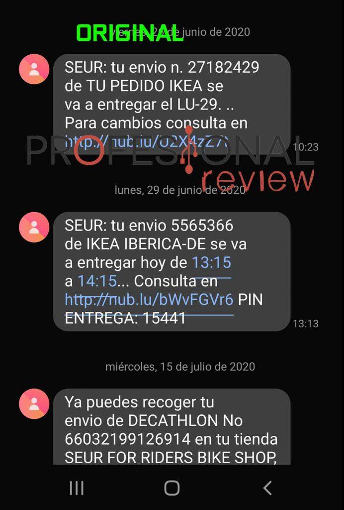 sms original SEUR