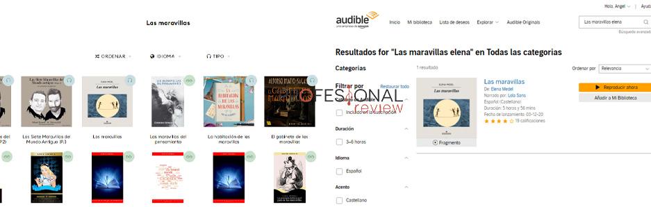 Audible vs Storytel catálogo