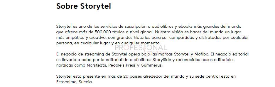 catálogo storytel