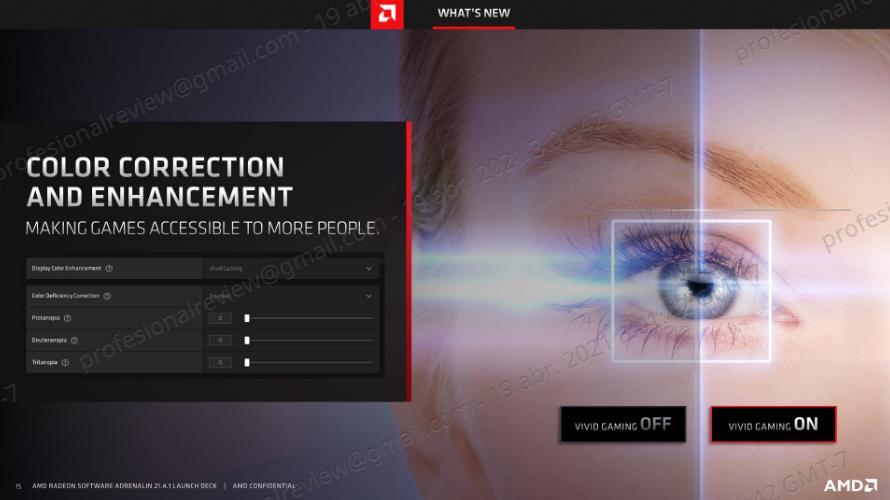 AMD Radeon Software Adrenalin 21.4.1 daltonismo