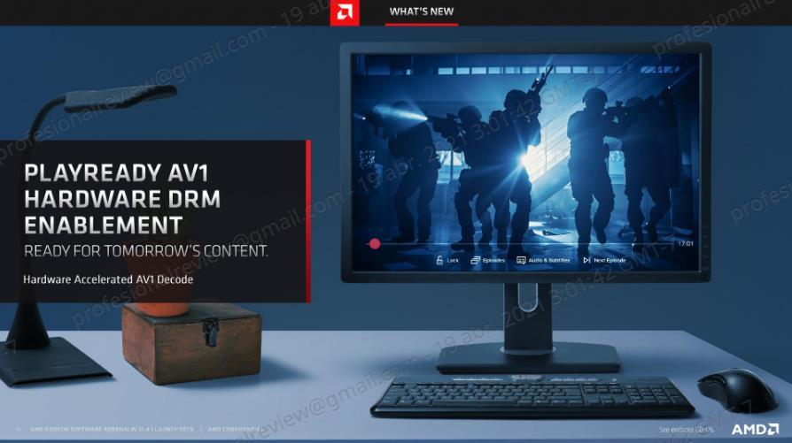 AMD Radeon Software Adrenalin 21.4.1 AV1