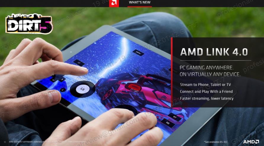 AMD Radeon Software Adrenalin 21.4.1 AMD Link