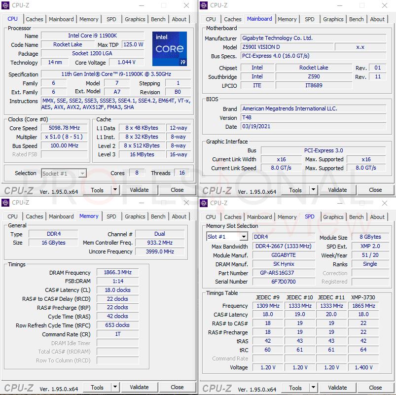 AORUS RGB Memory 3733 Specs
