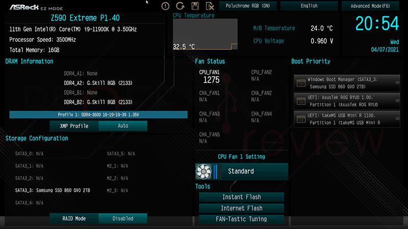 ASRock Z590 Extreme BIOS