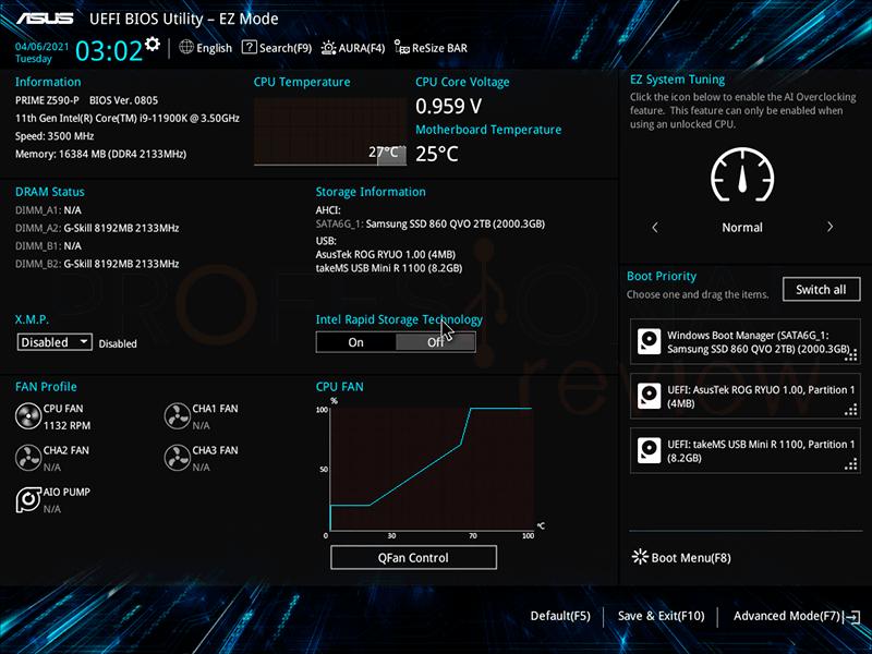 Asus Prime Z590-P BIOS