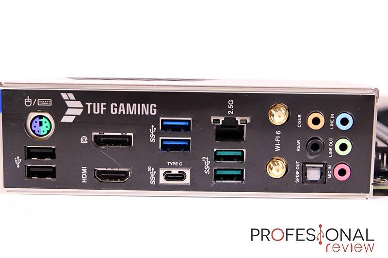 Asus TUF Gaming Z590-Plus WiFi Puertos