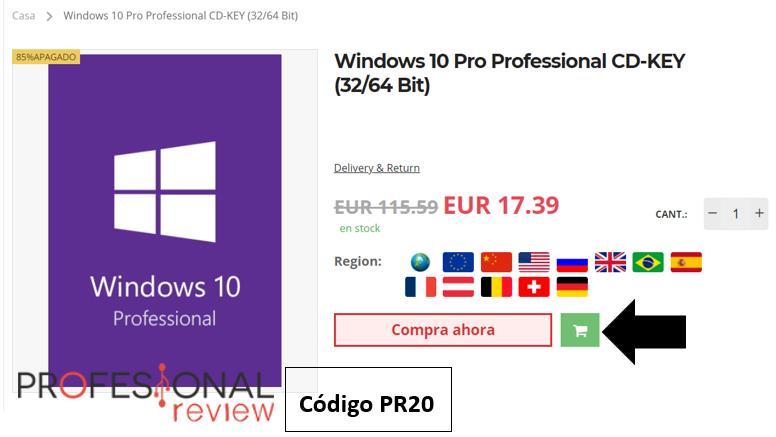 Comprar clave de Windows 10 barata