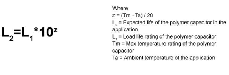 Formula calculo temperatura de condensadores solidos