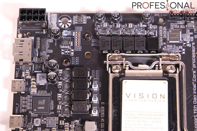 Gigabyte Z590I VISION D VRM