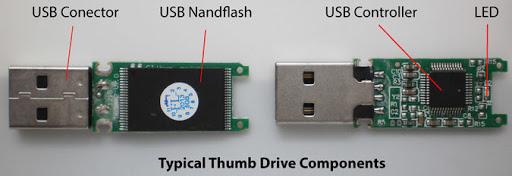 SSD USB 3.0 vs Pendrive USB: Interior de un pendrive