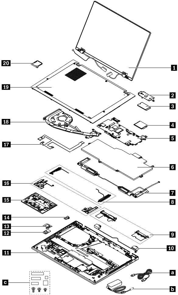 Lenovo ThinkPad X1 Nano Piezas