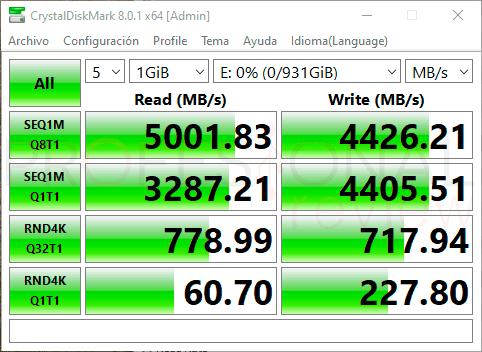 PNY XLR8 CS3040 SSD Gen4 Benchmarks