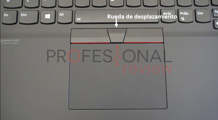 TrackPoint Botones ratón en el trackpad
