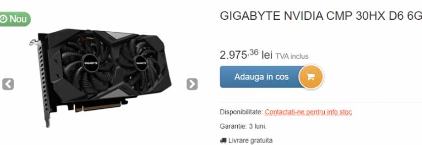 gigabyte cmp 30hx D6 6G