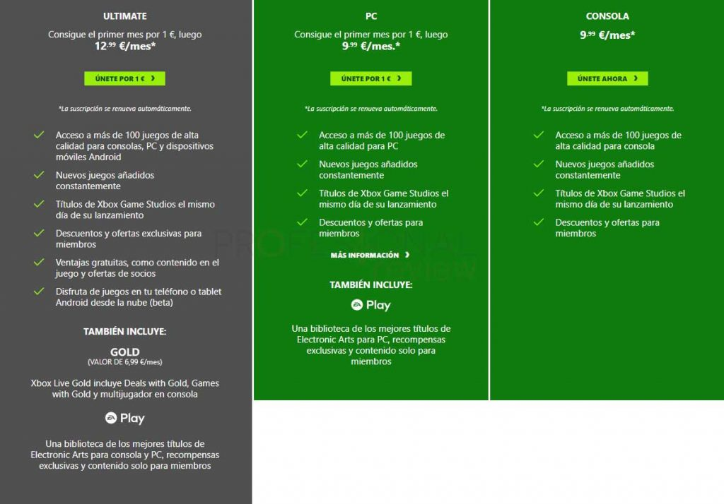 Xbox Game Pass precio
