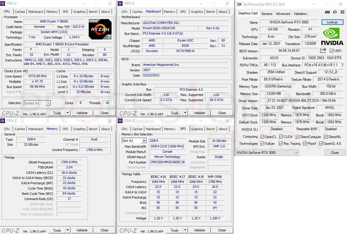 Asus PC ProArt CPU-Z