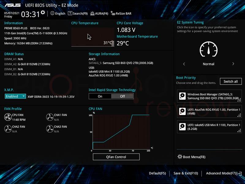 Asus PRIME B560 Plus BIOS