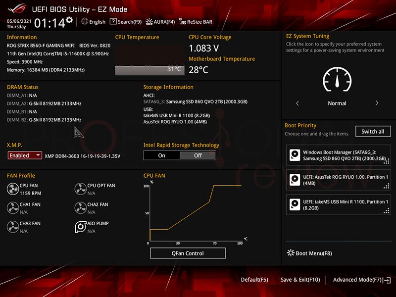 Asus ROG Strix B560-F Gaming WiFi BIOS
