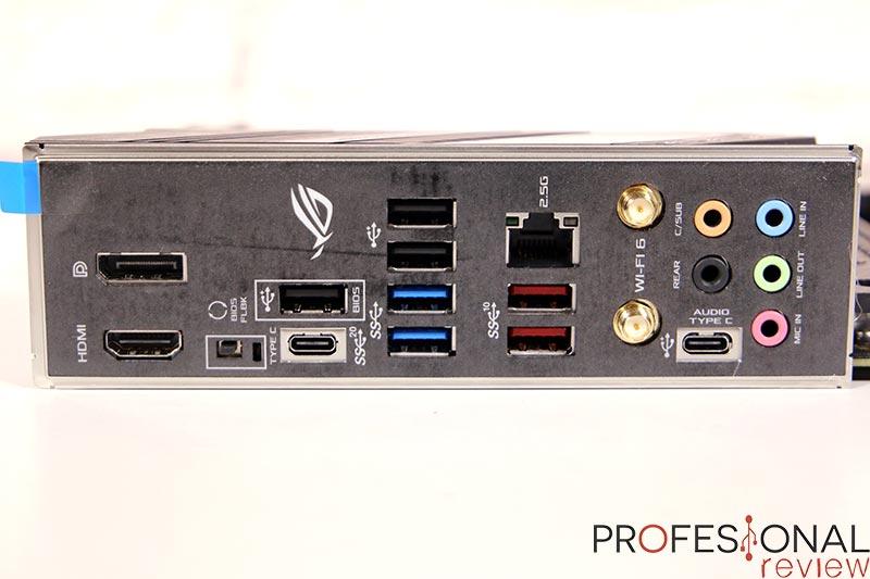 Asus ROG Strix B560-F Gaming WiFi Puertos