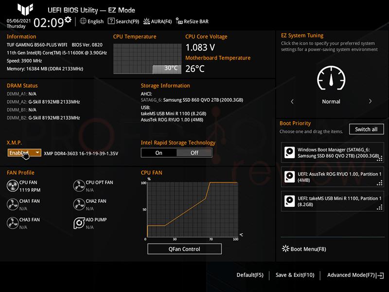 Asus TUF Gaming B560-Plus WiFi BIOS