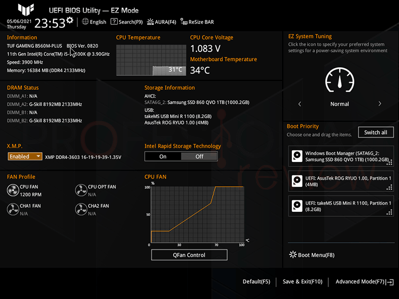 Asus TUF Gaming B560M Plus BIOS