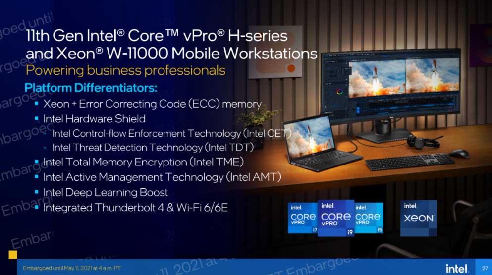 Intel vPro Xeon W-11000