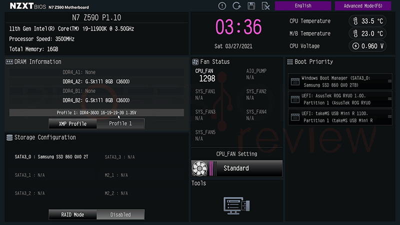 NZXT Z590 N7 BIOS