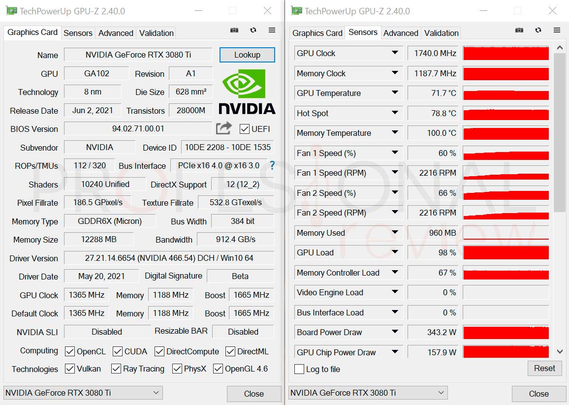 Nvidia RTX 3080 Ti GPU-Z