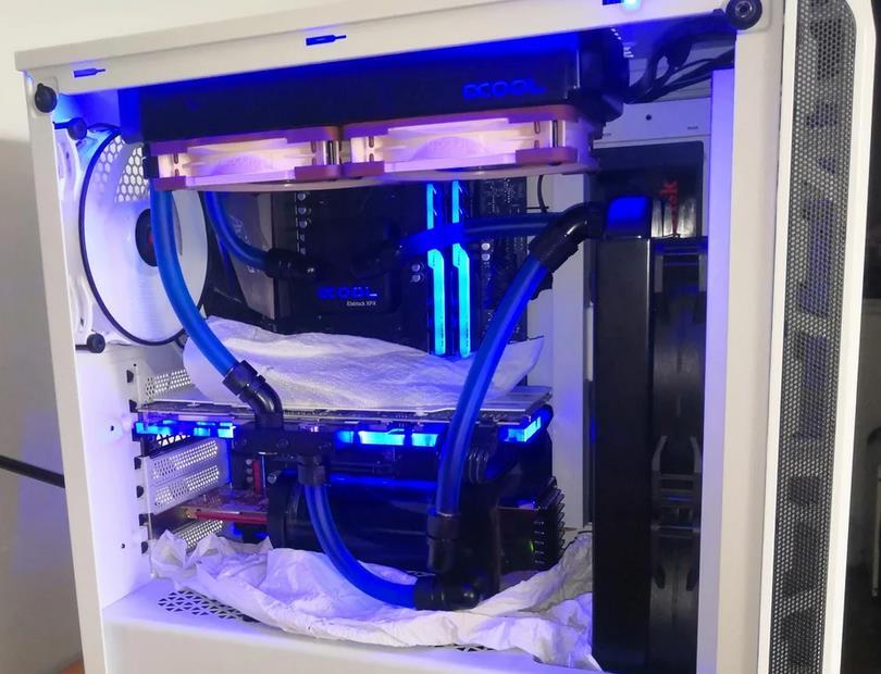 Refrigeracion liquida custom prueba de fugas
