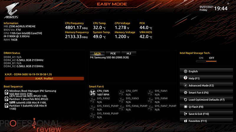 Z590 AORUS Xtreme BIOS