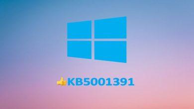 actualizacion windows 10 kb5001391 noticias barra tareas