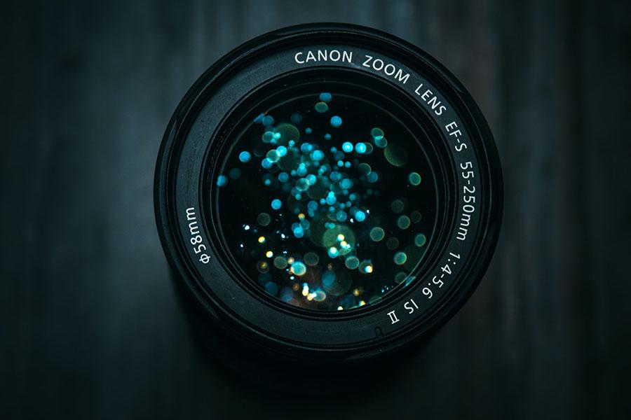 lente cámara réflex